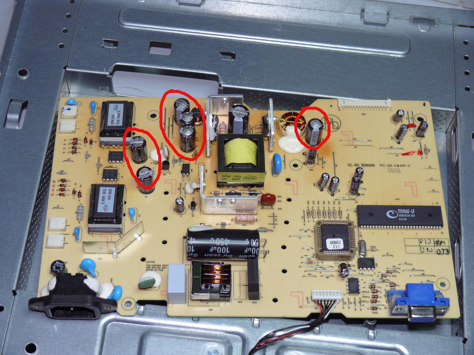Schemi Elettrici Tv Lcd : Howto riparare un vecchio monitor lcd che non si accende più